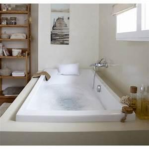 Baignoire Douche Leroy Merlin : baignoire rectangulaire cm blanc sensea ~ Dailycaller-alerts.com Idées de Décoration