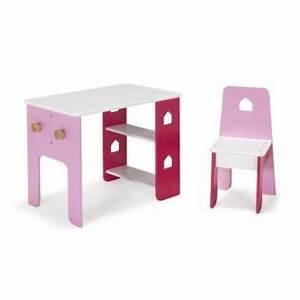 Bureau Enfant Alinea : bureau et chaise roses pour enfant avec tag res et pat res alinea avis ~ Teatrodelosmanantiales.com Idées de Décoration