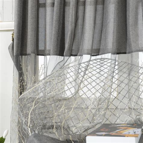 grey lace curtains embroidery patterns curtains