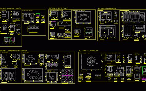 blocks hospital dwg detail  autocad designs cad