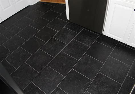 unusual black floor tiles chris style  recommended