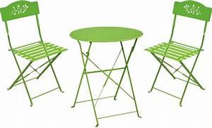 Table De Jardin Et Chaise Pas Cher : ensemble de jardin diana 1 table 2 chaises ~ Teatrodelosmanantiales.com Idées de Décoration