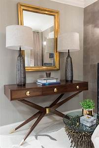 Chic, Console, Table, In, Eclectic, Living, Room