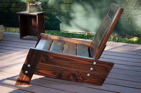 Modern/vintage Reclaimed Wood Deck Chair. 5.00, Via