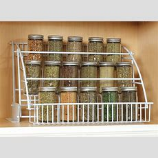 Rubbermaid Pull Down Spice Rack Organizer Shelf Cabinet
