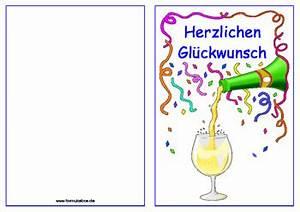 Geschenkkarten Zum Ausdrucken : geburtstagskarte champagner vorlagen und muster zum ausdrucken ~ Markanthonyermac.com Haus und Dekorationen