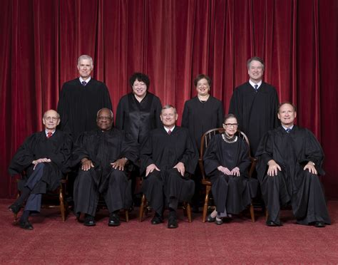 2019 Current Supreme Court Justice S