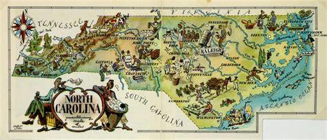 North Carolina Pictorial Map 1946