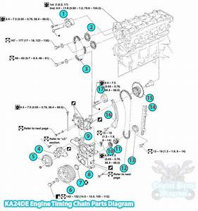 2008 Nissan Frontier Timing Chain Parts Diagram  Ka24de