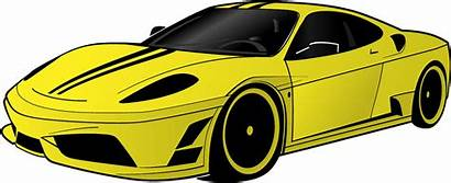 Clipart Ferrari Yellow Cliparts Vector Clip Library
