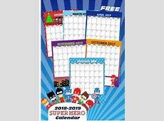 FREE Super Hero Printable Calendar