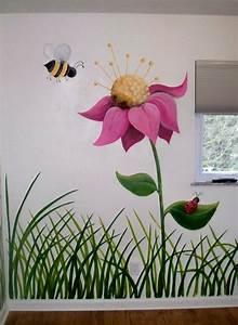 Flower, Garden, Nursery, Wall, Mural
