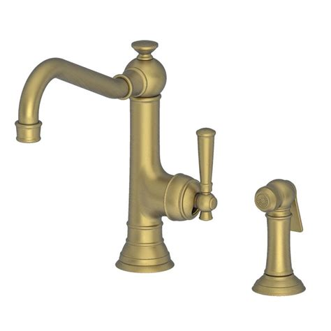 kohler single kitchen faucet faucet com 2470 5313 06 in antique brass by newport brass