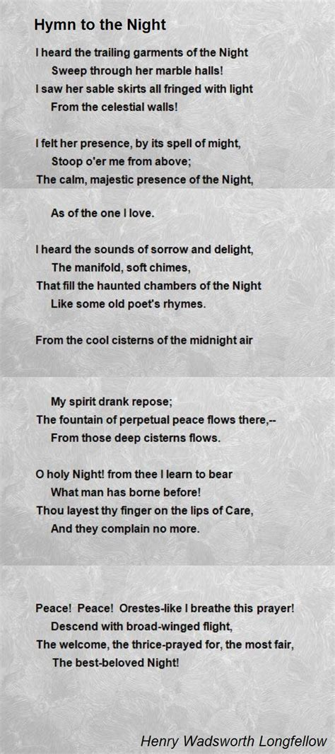 hymn   night poem  henry wadsworth longfellow