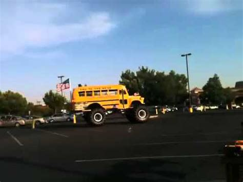 bad to the bone monster truck video bad to the bone bus monster truck youtube