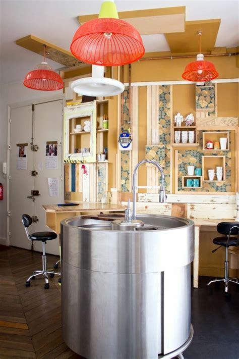 evier rond cuisine la cuisine équipée avec ilot central 66 idées en photos