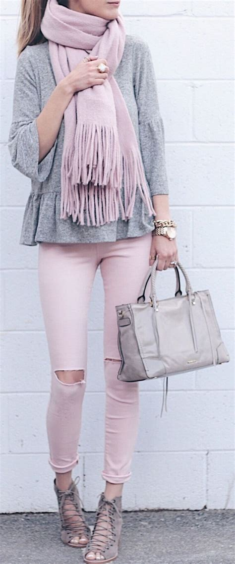 25+ Best Ideas about Pink Jeans Outfit on Pinterest | Light pink pants Bubble necklace outfit ...