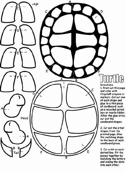 Coloring Crayola Turtle Pages Cut Ninja Craft