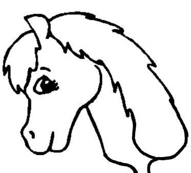 printable horse head stencils clipart