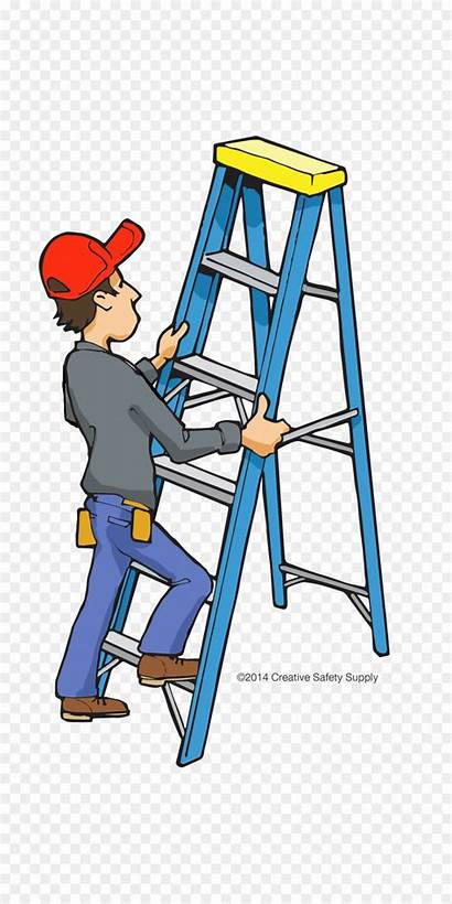 Ladder Clipart Safety Construction Fall Prevention Clip