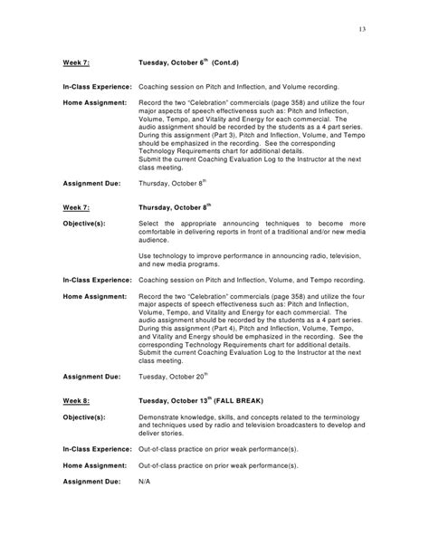 Tv Show Business Plans Templates by Sle Course Syllabus Mcm 3321 Media Presentation