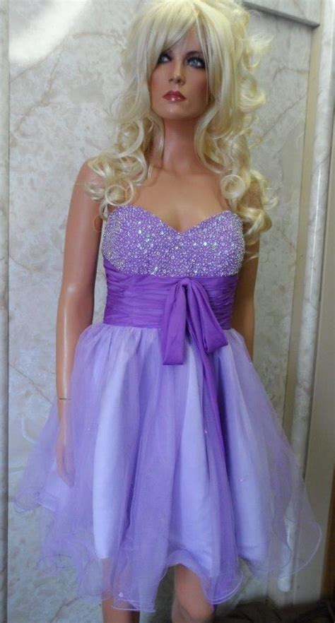 short purple prom dresses