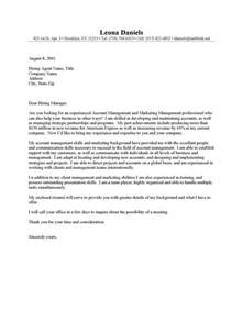 It Manager Resume Cover Letter Exles by Account Management Cover Letter Sle Resume Cover Letter