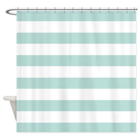 Bold Shower Curtain by Light Teal Bold Stripes Shower Curtain By Hhtrendyhome