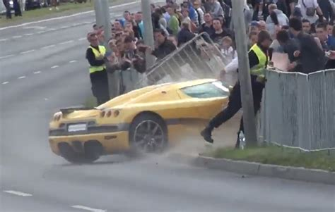 koenigsegg canada koenigsegg ccx crashes into crowd at rally in poland at