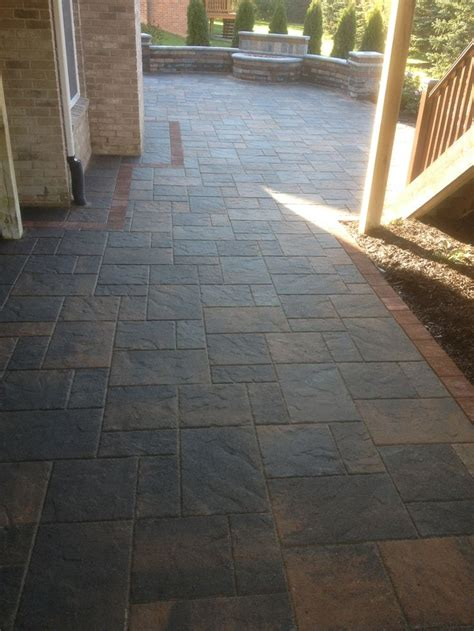 Unilock Beacon Hill Pavers by Unilock Brick Paver Beacon Hill Patio And Brussels Tumbled