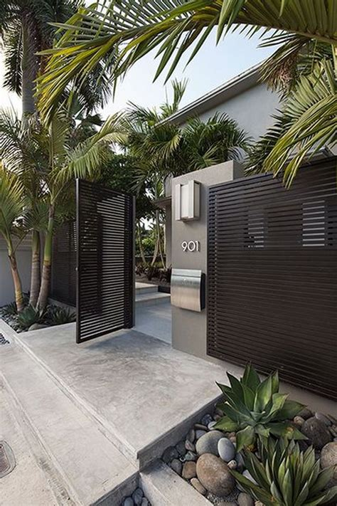 Amazing Modern Home Gates Design Ideas Best On Pinterest