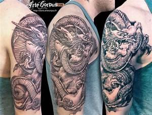 Tatouage Japonais Bras : tatouage dragon japonais sur le bras inkage ~ Melissatoandfro.com Idées de Décoration