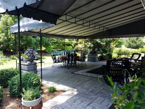 rounded front edge stationary patio canopy kreiders canvas service