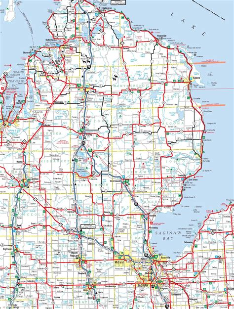 county maps  michigan  cities  travel information