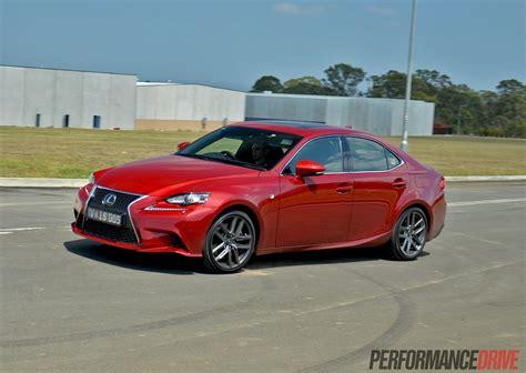 red lexus 2014 2014 lexus is 350 f sport review video performancedrive