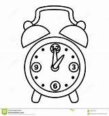 Clock Coloring Alarm Vector sketch template