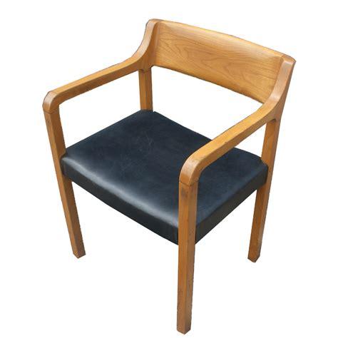 mid century modern krug wood arm chairs ebay