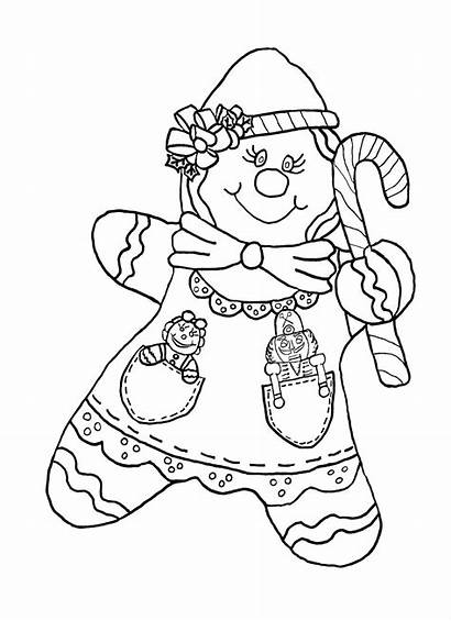 Gingerbread Coloring Lebkuchenmann Sheets Candy Adult Ginger
