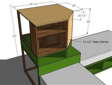 rudy easy corner computer desk with hutch plans wood