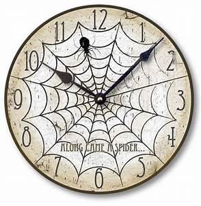 Halloween Spider Clock Fairy-freckles com