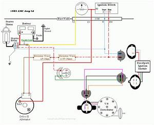 1985 Amc Jeep Sj Charging And Headlight Wiring Diagrams