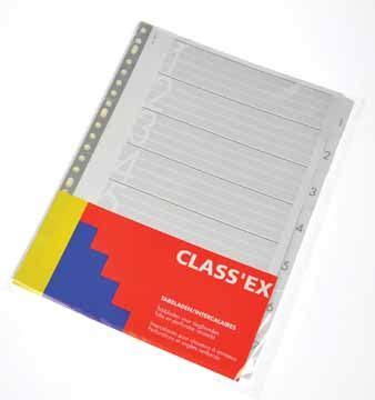 classex numerieke tabbladen  uit wit karton  gm set   eska office
