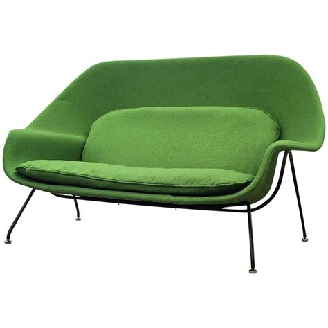 womb settee early vintage eero saarinen for knoll womb settee sofa at
