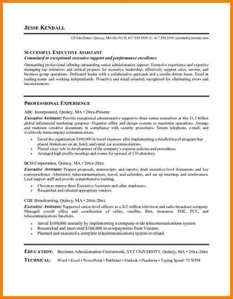 Best Executive Resumes 2017 by 9 Best Executive Assistant Resume