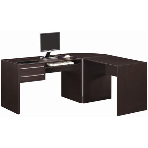Black L Shape Desk To Accomodate A Little Space My