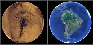 Mars & Earth: A Comparison of Surface Maps And Some ...