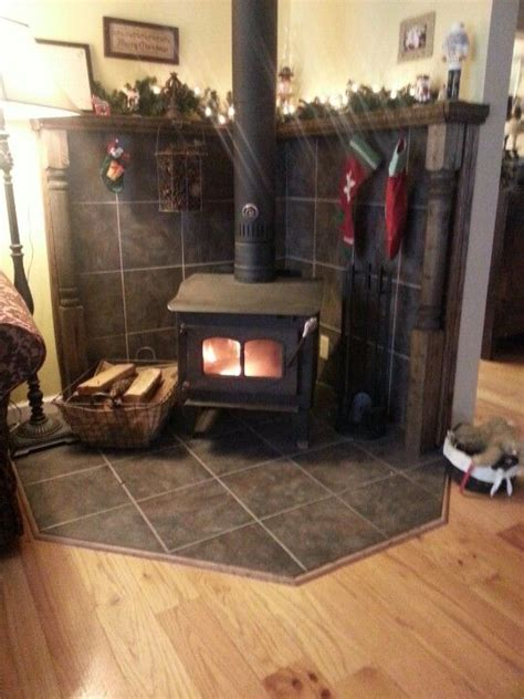 Wood Stove Corner Floor Protector by Best 25 Wood Stove Surround Ideas On Wood