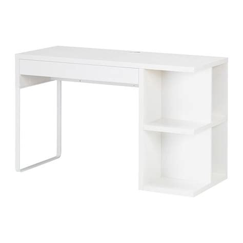 bureau micke blanc micke bureau à rangement intégré blanc ikea