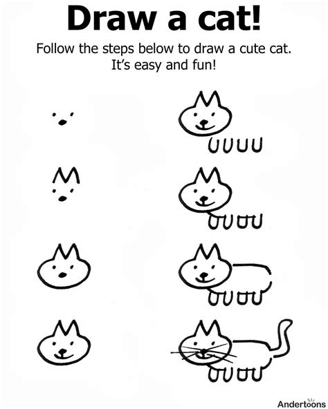 draw  cat step  easy practice drawing