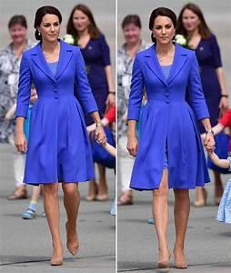 Duchess of Cambridge wears blue coat leaving Poland for ...